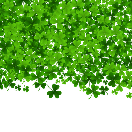 Background with clovers, St. Patrick s Day background .Vector illustration