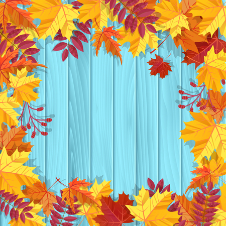 gele natte herfst bladeren op de achtergrond een donker oud hout