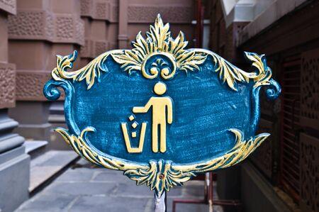 tirar basura: BASURA signo en Tailandia