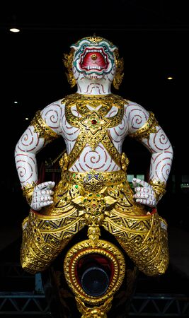 Old thai sculpture, Hanuman  Lord of wind Stock Photo - 17594058