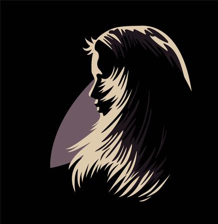 cheveux dramatiques Vecteurs