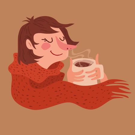 Cozy Warm Coffee Girl icon