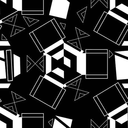 Creative Rythm Abstract Geometric Seamless Repeat Pattern