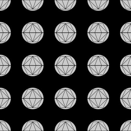 Divided Circles Grid Abstract Geometric Repeat Pattern
