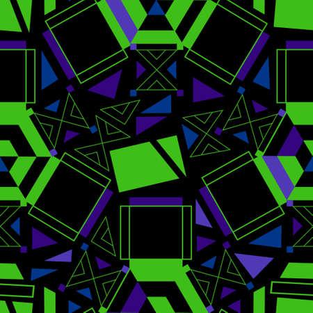 Futuristic Dynamic Abstract Geometric Seamless Repeat Pattern