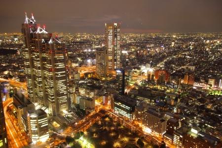 cảnh quan: Thành phố của ánh sáng, xem từ tháp Tokyo