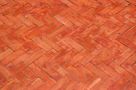 The floor is made of bricks Stock Photo