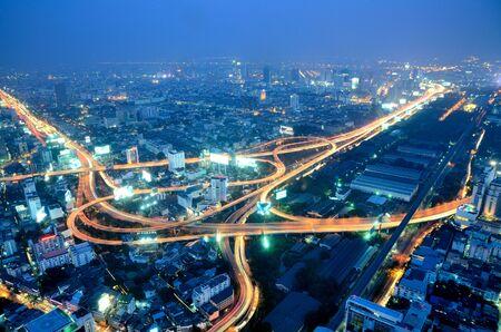 Night view from Baiyok Tower II, Thailand Stockfoto