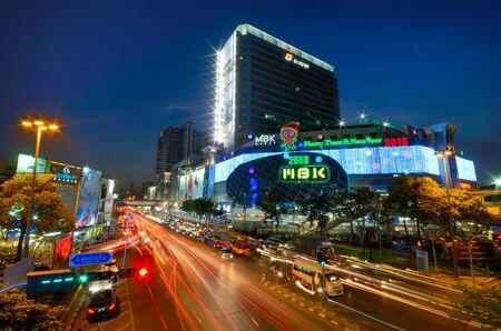Bangkok straat nacht