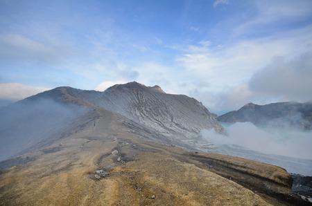 Uitzicht op Ijen vulkaan, Indonesië Stockfoto