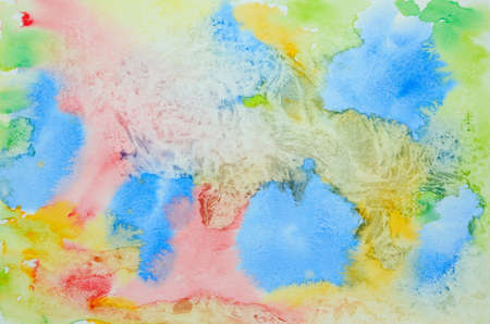 Abstract watercolor background with plastic wrap technique