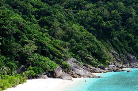 Bovenaanzicht van Ta Chai Island, Thailand Stockfoto