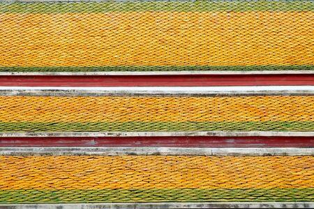 Thaise tempel dak textuur voor de achtergrond Stockfoto