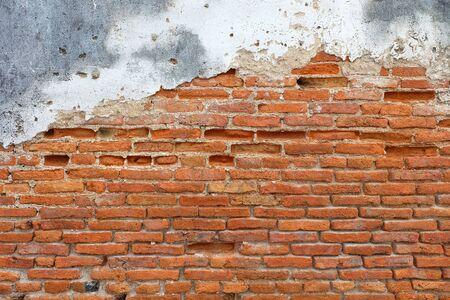 Gescheurd beton bakstenen muur Stockfoto
