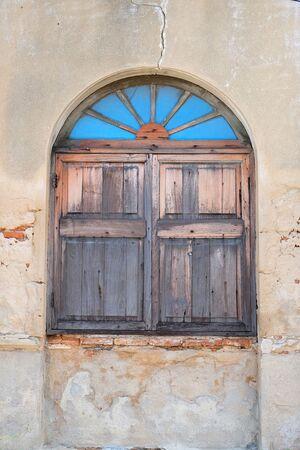 Oude venster Stockfoto