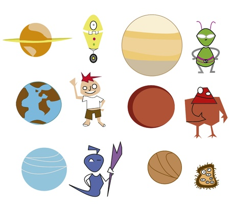 Icons Planets Illustration