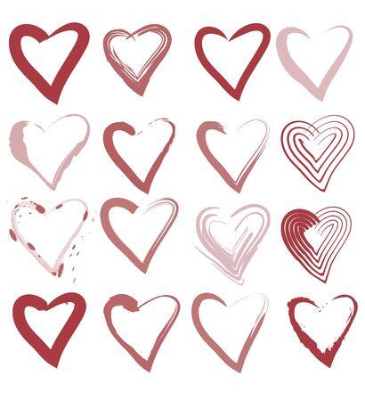 15 tipos de corazones Stock Vector - 13076893