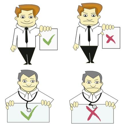 medico: Trabajadores Si o No Illustration