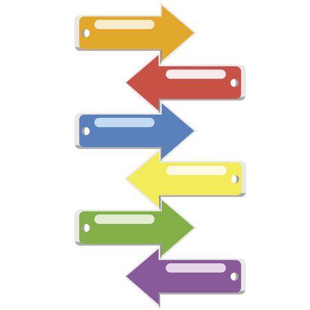 Flechas de colores vivos Stock Vector - 13076884