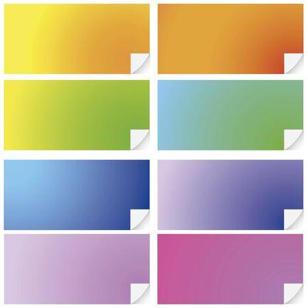 Lote de post-it de colores Stock Vector - 13111227