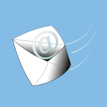 fondo azul: Email gooooo Illustration