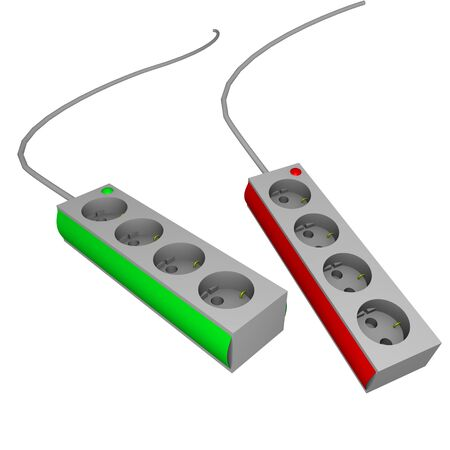 two power strips in 3d photo