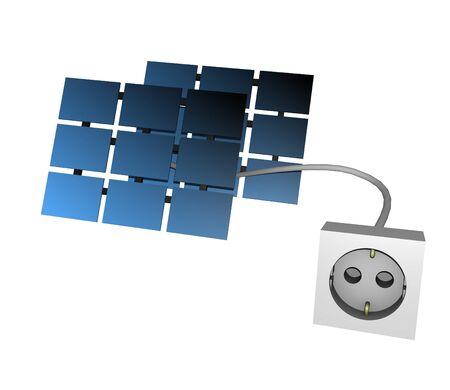 an 3d solar plug render Stock Photo - 9899492