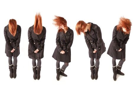 red haired girl dancing Stock Photo - 10068687
