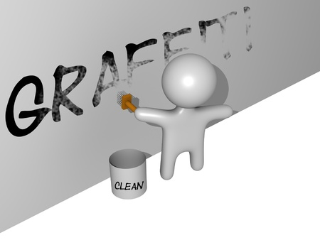 removal: 3d graffiti removal guy