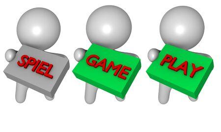 spiel: 3d game play spiel figures