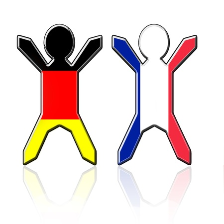 flag germany: flag guys -Germany and France Stock Photo