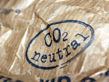 co2 neutral: co2 neutrale Packung Stock Photo