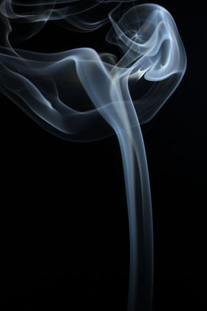 an abstract smoke picture in front of a black background Stock Photo - 12944747