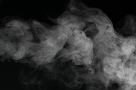 een abstract rook beeld in de voorkant van een zwarte achtergrond