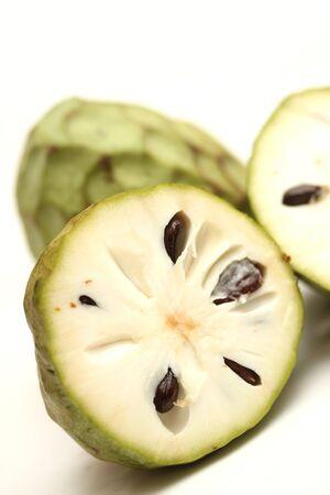 chirimoya: isolated cherimoya fruit Stock Photo