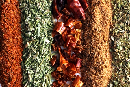 mixed lines from spices texture Stock Photo