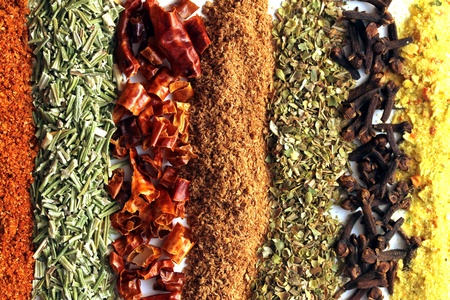 mixed lines from spices texture photo
