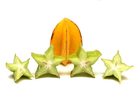 isolated star fruits photo