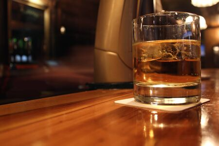 whiskey served in a pub photo