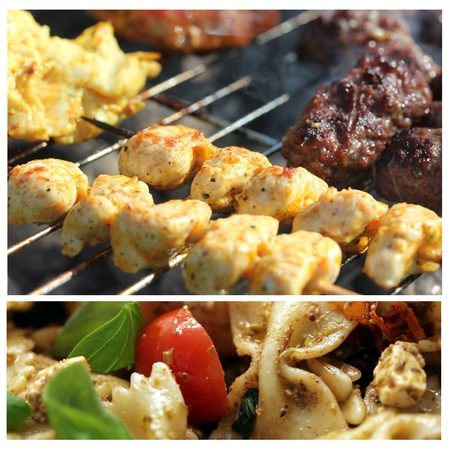 beautiful barbecue collage 3 Stock Photo - 13488777