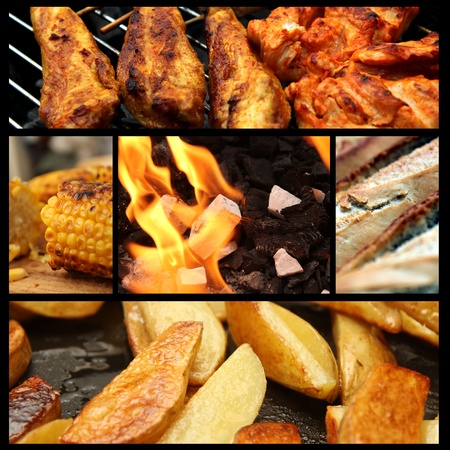 barbecue picture collage