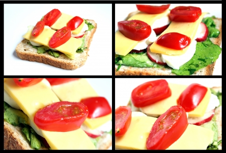 homemade sandwich collage photo