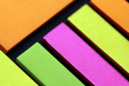 coloured paper strips photo