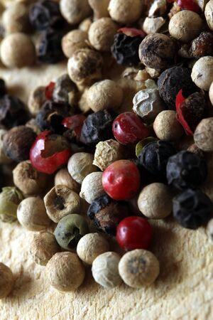 colored peppercorns photo