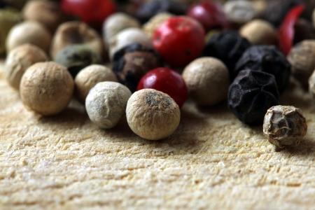 colored peppercorns Stockfoto