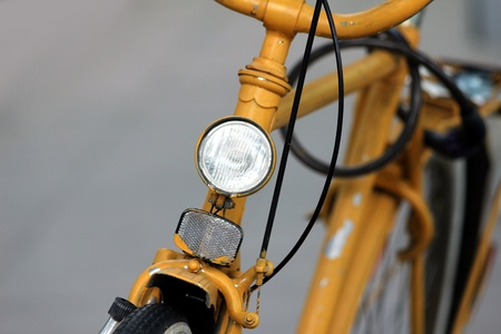 old yellow bicycle Stock Photo - 13823159