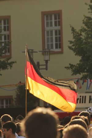 German football fans during public viewing editorial picture Stock Photo - 14139603