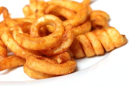 곱슬 감자 튀김