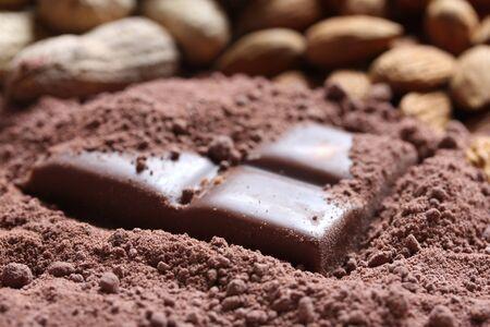 sugar powder: chocolate background