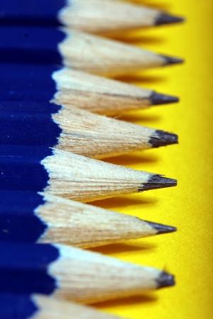 normal school: plain row of pencils Stock Photo